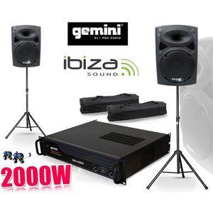 PACK SONO Pack SONO Enceintes SLK-12, 2x600W, Ampli GEMINI