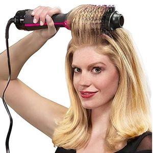 FER A LISSER 1000W Professionnel Sèche-Cheveux Brosse 2 En 1 Li