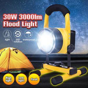 LAMPE DE CHANTIER Projecteur LED Rechargeable 30W 3 modes d'éclairag