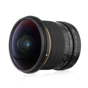 OBJECTIF Lightdow 8mm Objectif Lentille F3.5 180° Full Fram