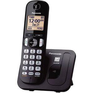 Téléphone fixe PANASONIC téléphone DECT solo noir sans répondeur
