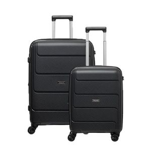 SET DE VALISES Lot de 2 valises rigides Lafe 77 et 55 cm Black BL