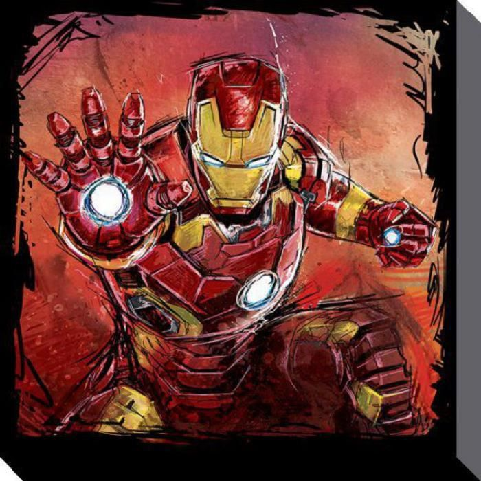 tableau iron man achat vente tableau iron man pas cher cdiscount. Black Bedroom Furniture Sets. Home Design Ideas