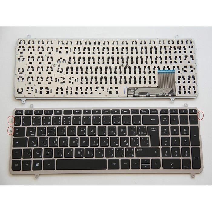 AZERTY Français Arabe Clavier pour HP ENVY M6-K série FR-AR