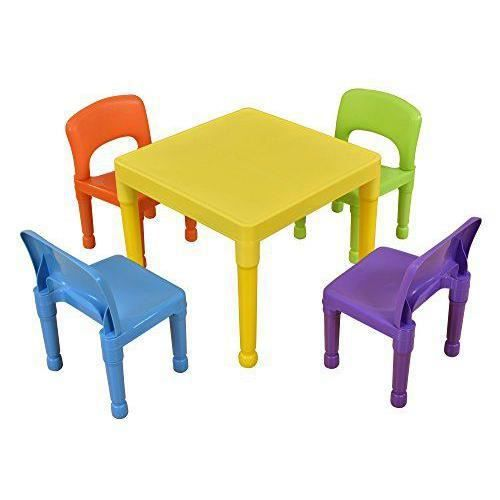 Liberty House Toys Enfant Ensemble table et 4chaises, en plastique, multicolore - 8809N