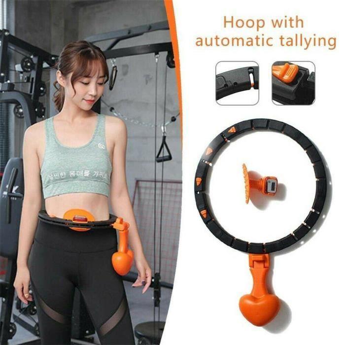 Hoop à Rotation Automatique - Count Smart Detachable for Lose Weight Exercise, Cerceau De Rotation à Taille Réglable pour Perdr
