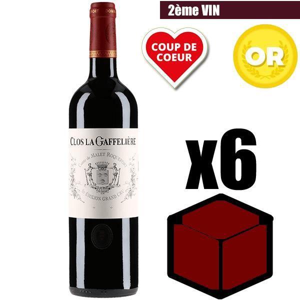 X6 Clos La Gaffelière 2014 75 cl AOC Saint-Emilion Grand Cru Rouge Vin Rouge
