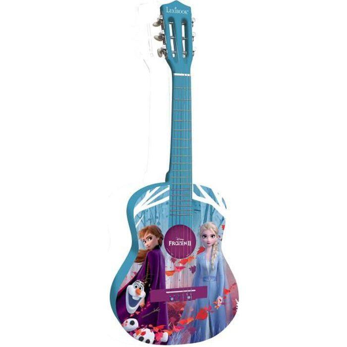 LA REINE DES NEIGES Guitare acoustique enfant 78 cm en bois LEXIBOOK - médiator et sangle inclus