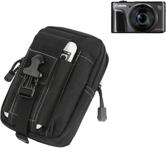 Sacoche Ceinture pochette - étui pour Canon PowerShot SX720 HS, noir - Etui Caméra digital numérique Sac portable Housse