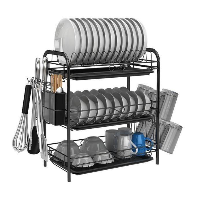 AVANC Egouttoir A Vaisselle Cuisine noir 3 couche TYPE A