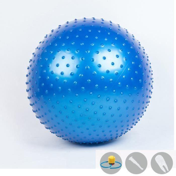 Ballon Suisse Fitness Gym Yoga Epais Couleur Unie Avec Point Bleu LBQ2