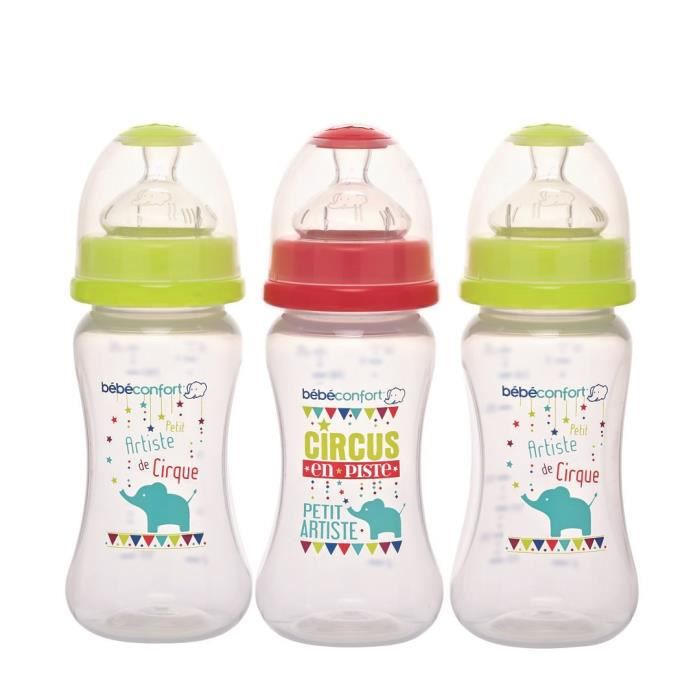 BEBE CONFORT Lot de 3 Biberons Maternity 270ML - Edition Circus