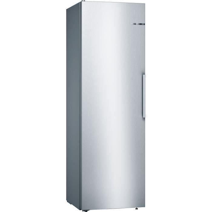 BOSCH KSV36VLEP - Réfrigérateur 1 porte - 346 L - Froid statique - A++ - L 60 x H 186 cm - Inox côtés silver