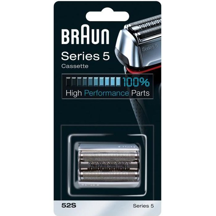 Pièce De Rechange compatible avec les rasoirs Series 5 - BRAUN 52S Argentée