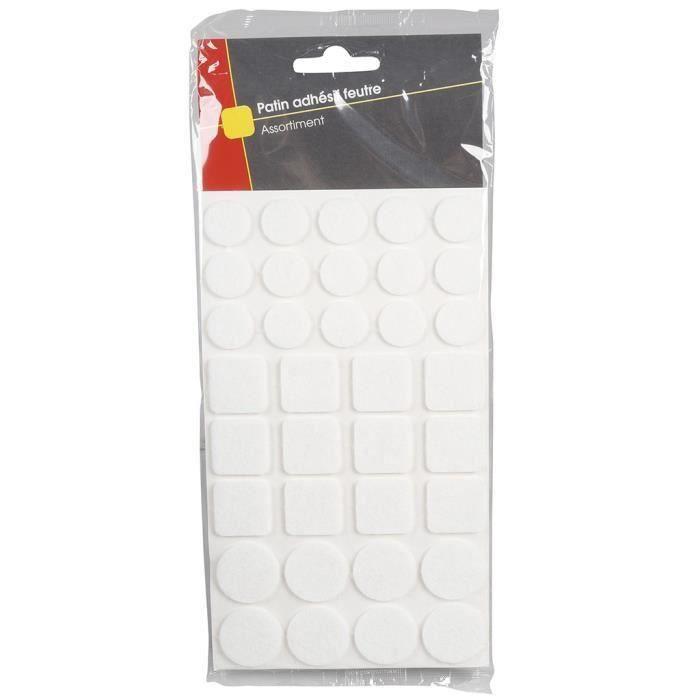 COGEX Patin adhesif feutre - 105 pcs (Lot de 3)