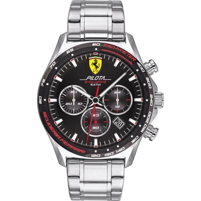Ferrari-Montre Chronographe pour Homme à movement Quartz en Acier inoxydable - 0830714