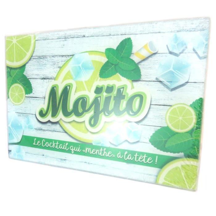 Planche à découpe - dessous de plat verre 'Mojito' vert - 30x20 cm [P2919]