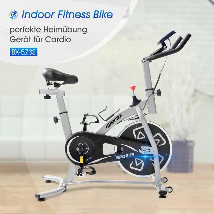 FIT BIKE - Vélo d'intérieur avec console LCD coussin de siège confortable pour l'entraînement cardio(Entrepôt allemand)