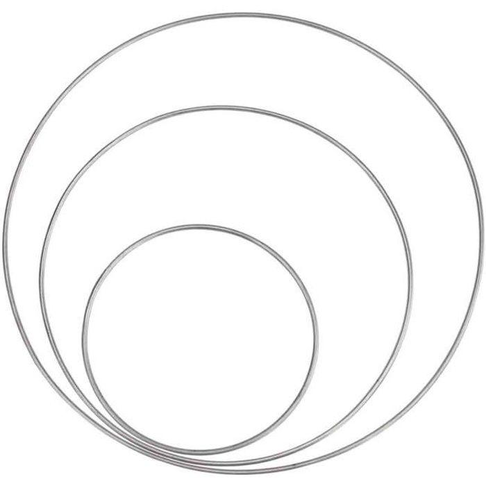 Anneau métal pour attrape-rêves 10, 15, 20 cm x 3 pcs - MegaCrea {couleur}