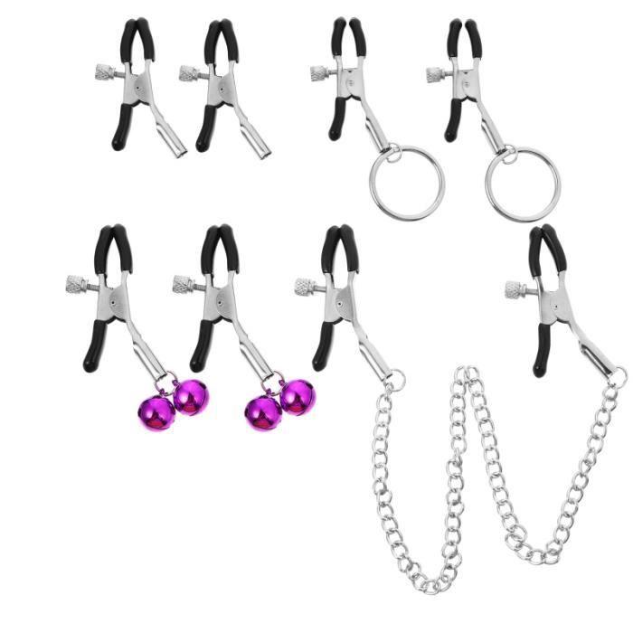 4 paires de mamelons pinces à seins Flirt SM accessoires jouet sexuel pour femmes BALLE DE TENNIS