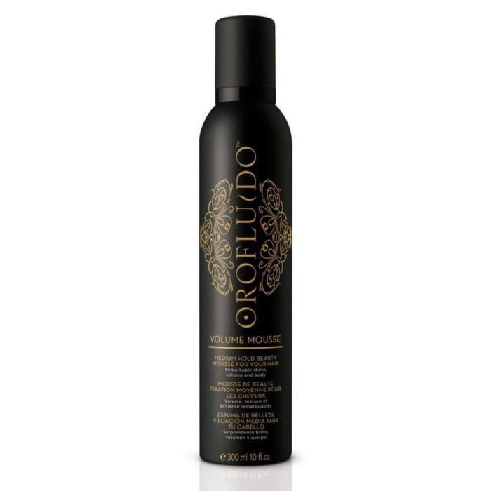 Orofluido, Mousse de beauté fixation moyenne 300ml, Coiffant Mousse Hydratant, Thermo-protecteur Cheveux Fins et Plats
