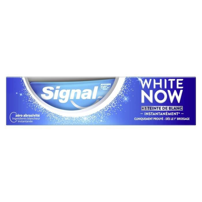 LOT DE 6 - Dentifrice white now SIGNAL - le tube de 75 ml