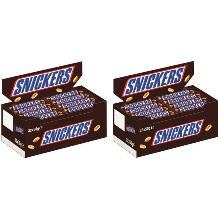 Snickers Chocolat Barres 64 x 50g