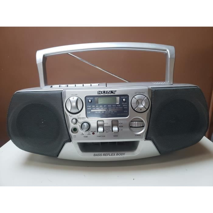 RADIO PORTABLE POSTE LECTEUR CASSETTE K7 CD BOOMBOX GHETTOBLASTER SONY CFD-V31L