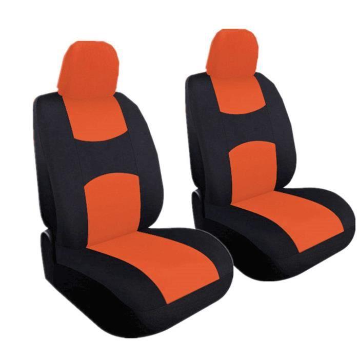 Housse de Siège Auto Universelle coussins pour Siège Voiture,auto Protecteur de siège, Couvre Siège voiture - Orange