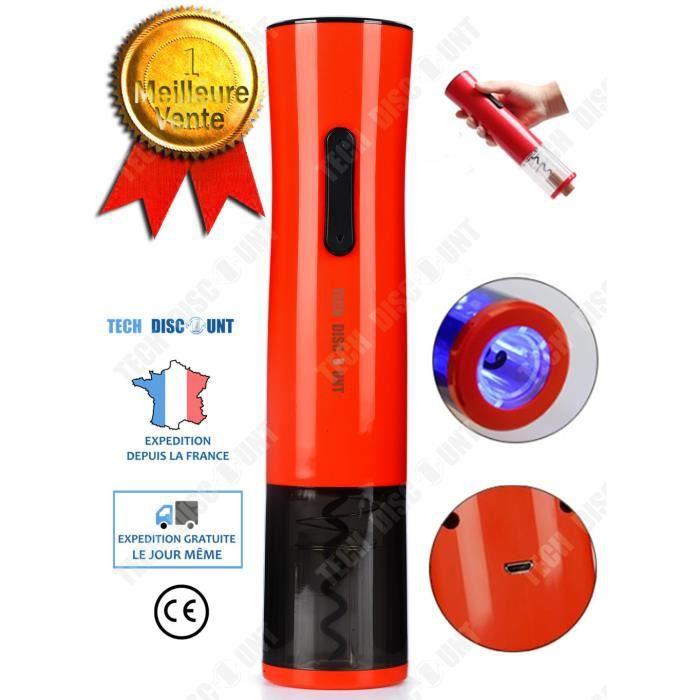 TD® Tire bouchon électrique professionnel rechargeable ouvre-bouteille vin rouge Décapsuleur automatique beau design ouverture rapid