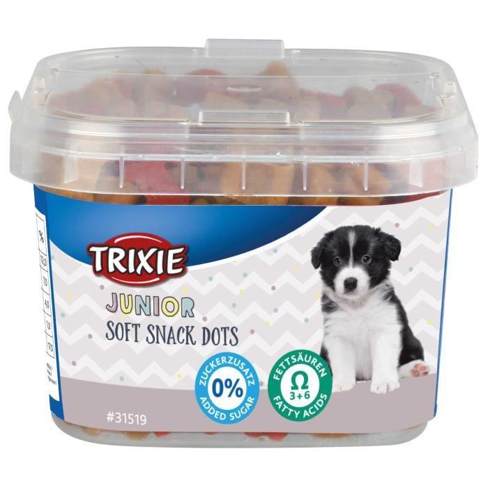 Trixie - Friandise pour chiot au poulet et saumon. 140 g . Junior Soft Snack Dots