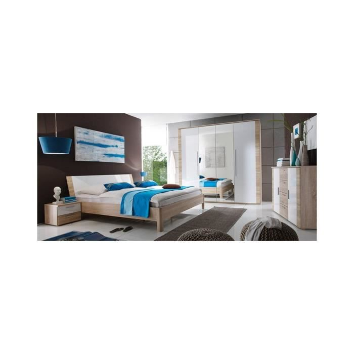 Chambre a coucher complete ref chloe 1 achat vente for Achat chambre a coucher complete