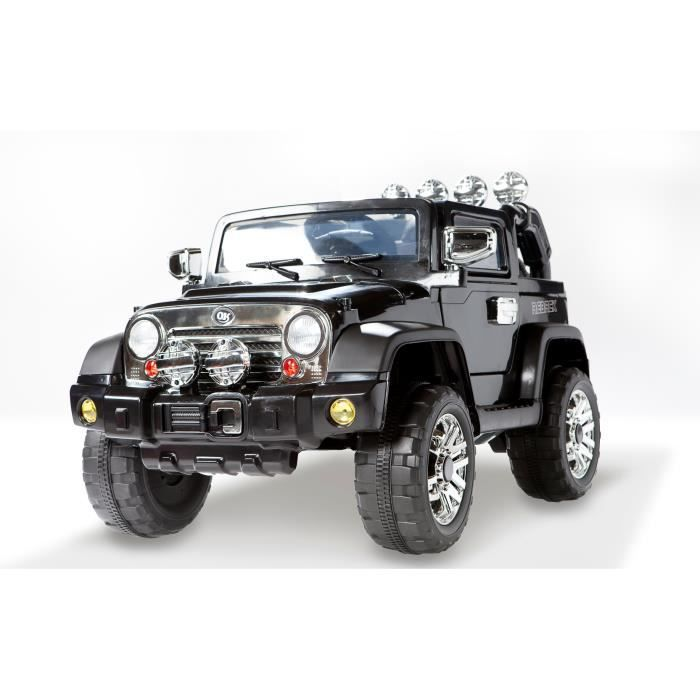 4x4 jeep lectrique pour enfant noir 1 place 12volts 2 moteurs achat vente voiture enfant. Black Bedroom Furniture Sets. Home Design Ideas