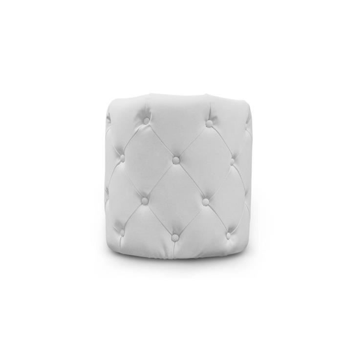 pouf capitonn blanc stars achat vente pouf poire pvc cdiscount. Black Bedroom Furniture Sets. Home Design Ideas