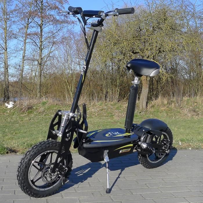 scooter lectrique 1000w e flux vision noir achat vente trottinette electrique scooter. Black Bedroom Furniture Sets. Home Design Ideas