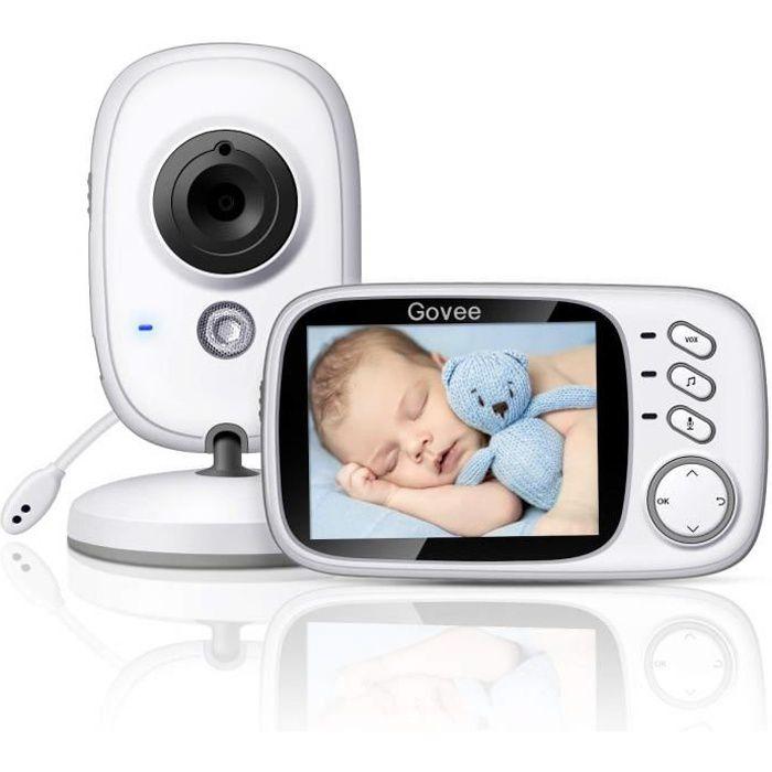 """Bébé Moniteur Sans fil LCD 3,2/"""" Écran LCD Ecoute Bébé VOX 2020 Babyphone Caméra"""