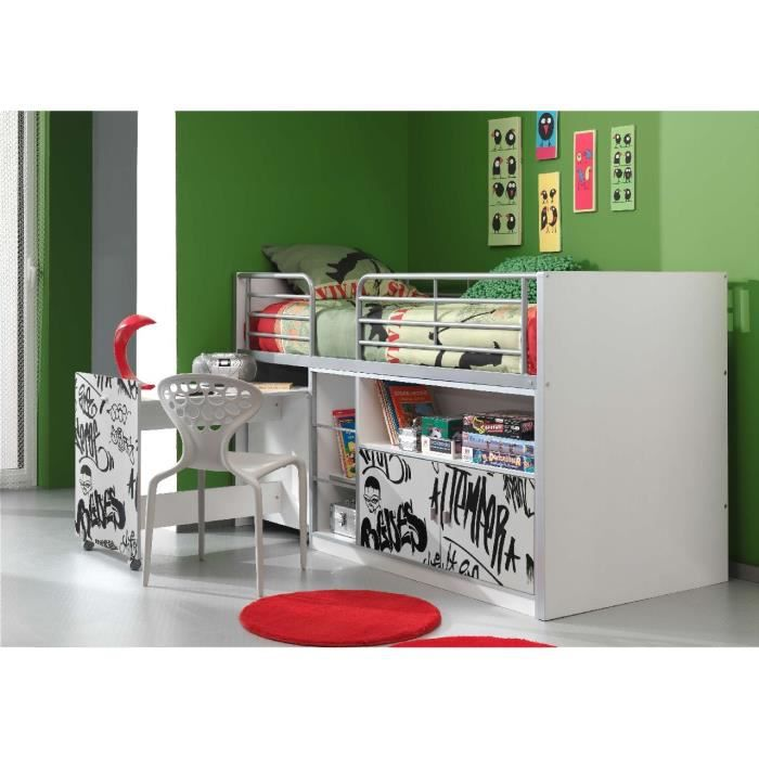 bonny lit compact enfant graffiti achat vente lit. Black Bedroom Furniture Sets. Home Design Ideas