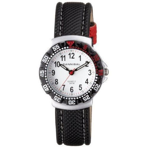 cannibal cj091 01 montre gar on analogique bracelet nylon blanc achat vente. Black Bedroom Furniture Sets. Home Design Ideas