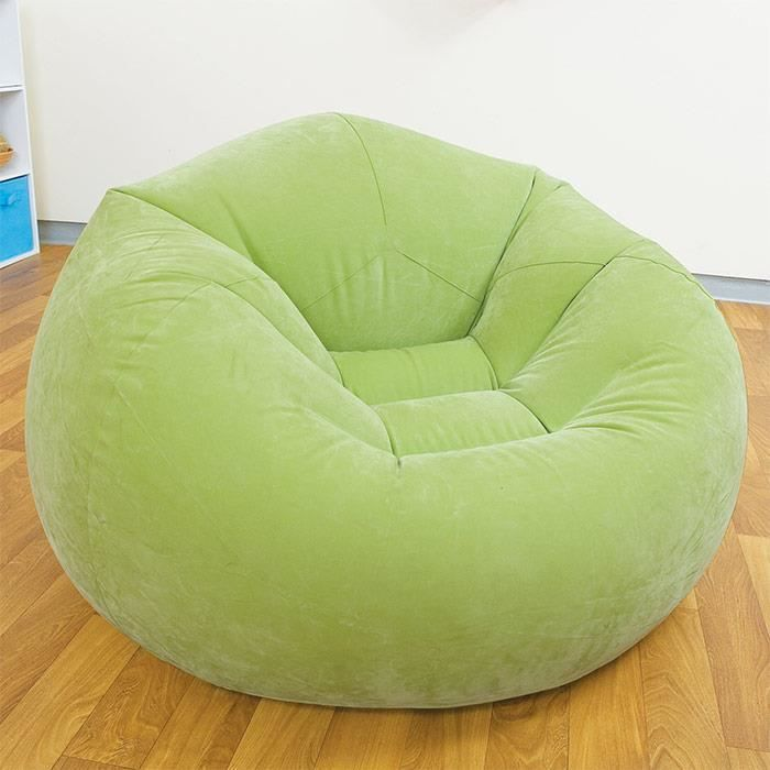 pouf si ge fauteuil gonflable design et color vert achat vente pouf poire cdiscount. Black Bedroom Furniture Sets. Home Design Ideas