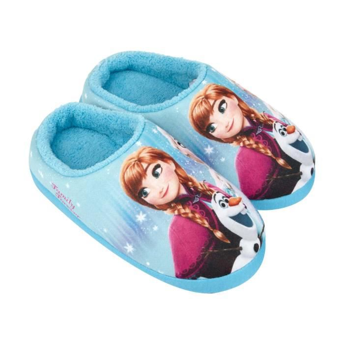 disney la reine des neiges chaussons bleu clair achat vente chausson pantoufle cdiscount. Black Bedroom Furniture Sets. Home Design Ideas