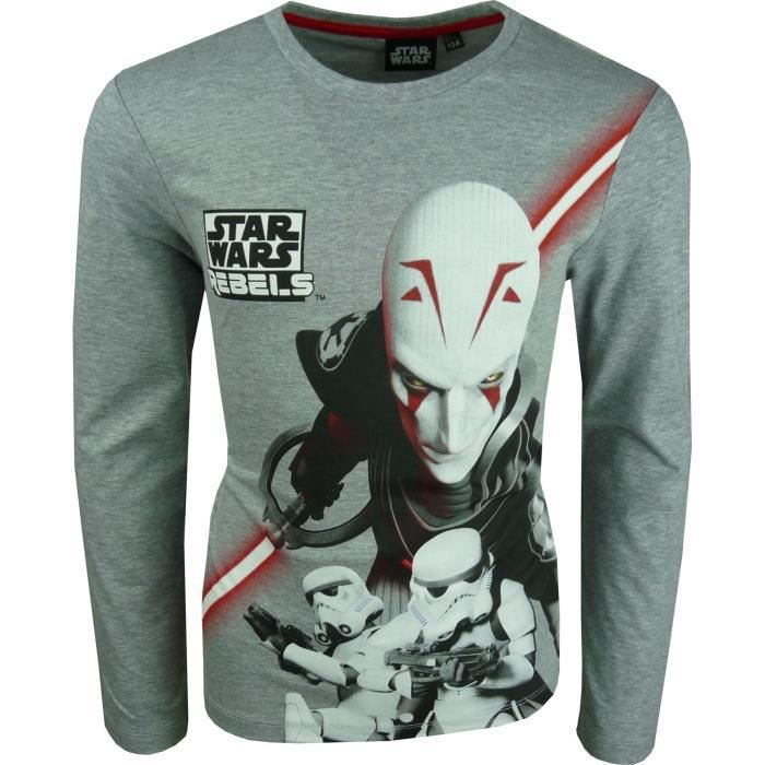 T-SHIRT Star Wars Rebels T-Shirts à manches longues Gris c