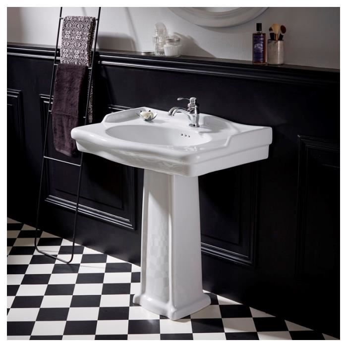 lavabo colonne poque r tro blanc achat vente. Black Bedroom Furniture Sets. Home Design Ideas
