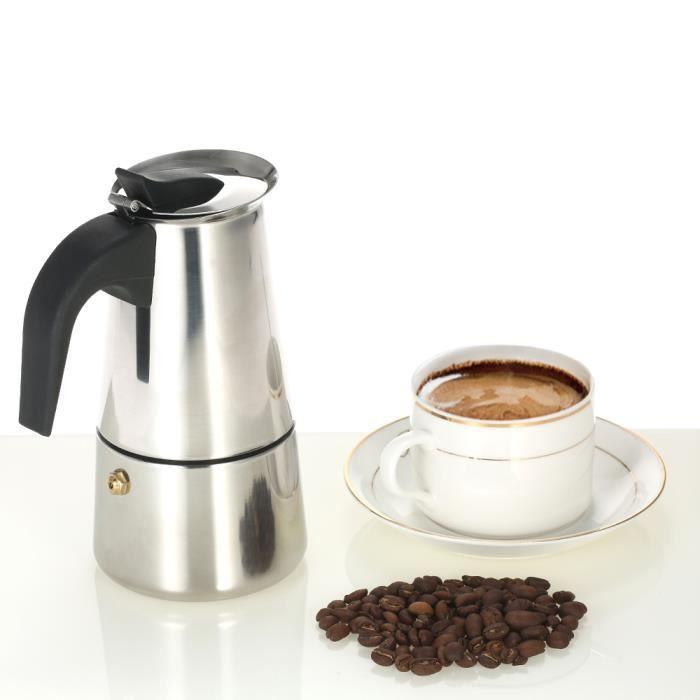 La Cafetiere Cafetière Espresso Classique Percolateur Maker Acier 6 Tasses