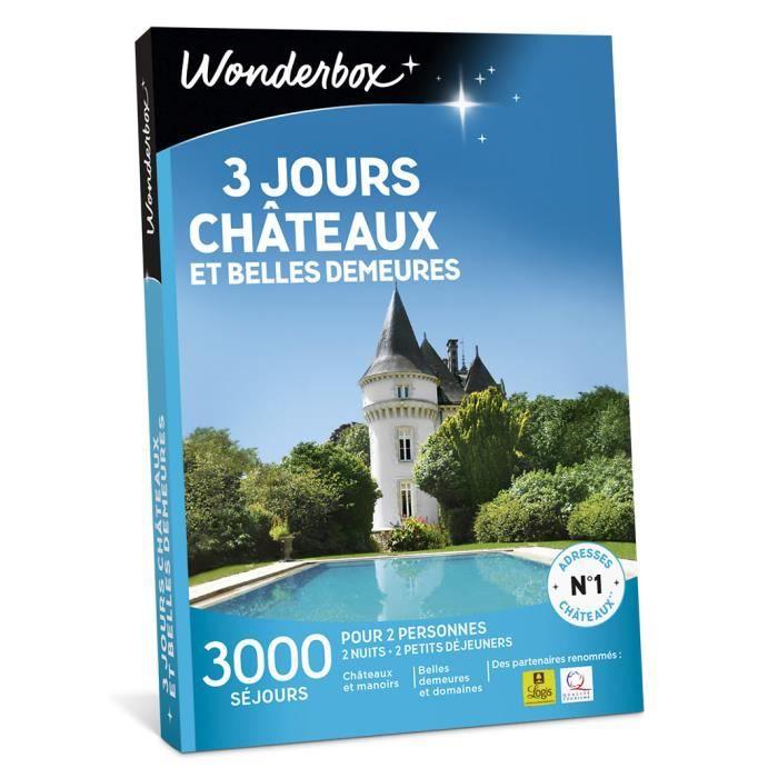 COFFRET SÉJOUR Wonderbox - Coffret cadeau - 3 jours châteaux et b