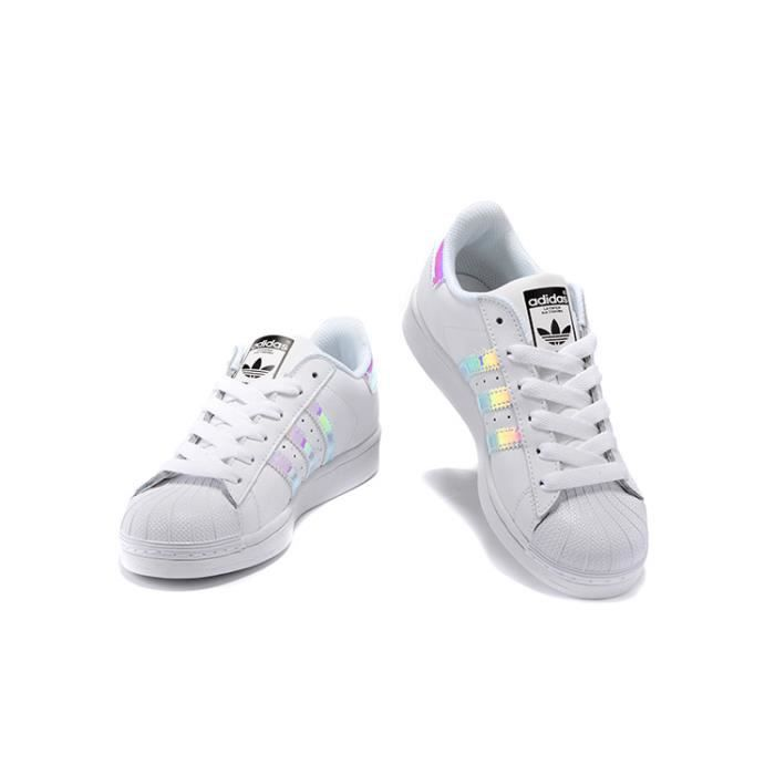 7bb3486226c ... Baskets Adidas Superstar Junior Chaussures Femme Ftw Blanc Laser D2tW7B