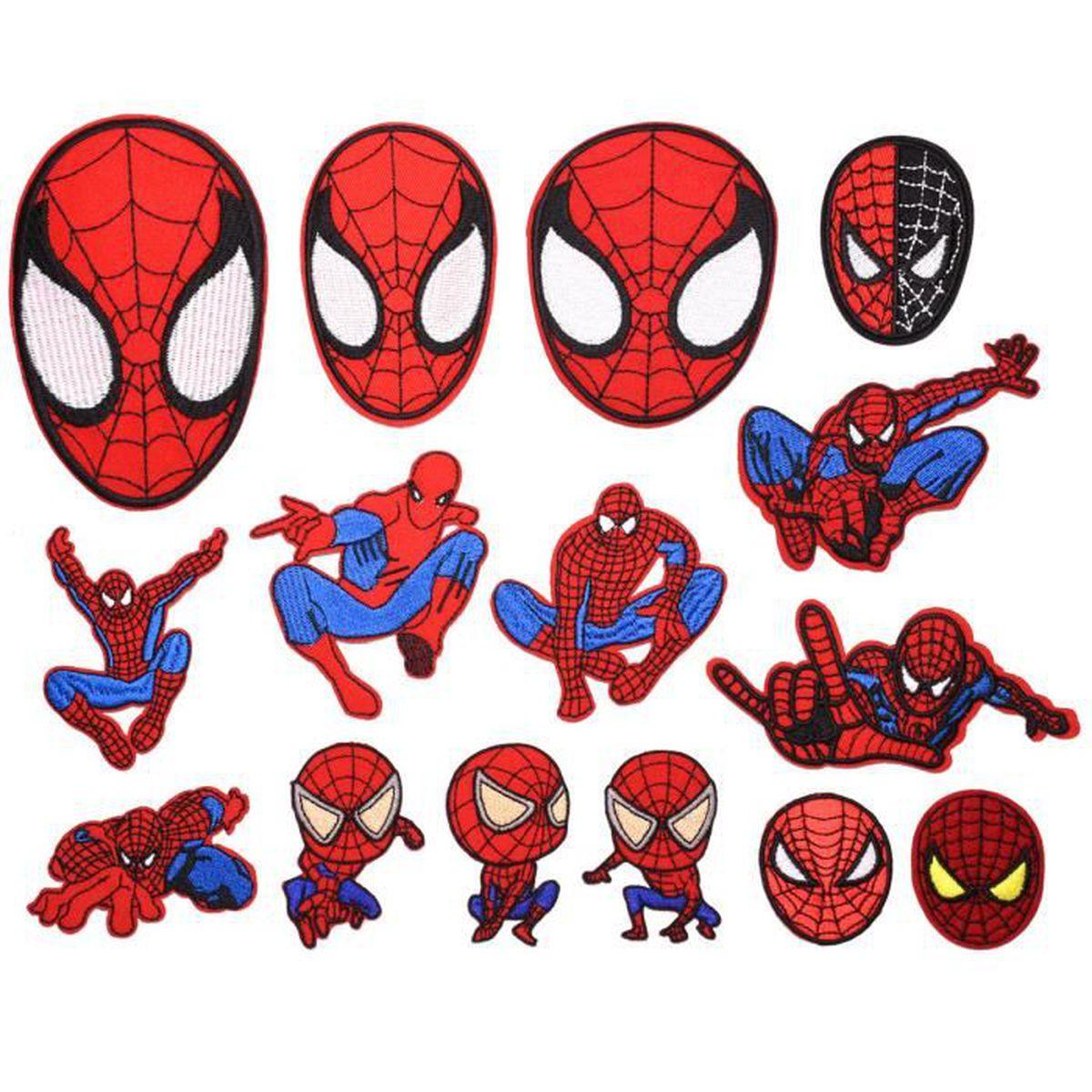 King Wow 15pcs Spiderman Dessin Anime Broderie Enfants Patch Autocollants Vetements Vetements Jeans Decoration Achat Vente Renfort Patch King Wow 15pcs Spiderman D Cdiscount