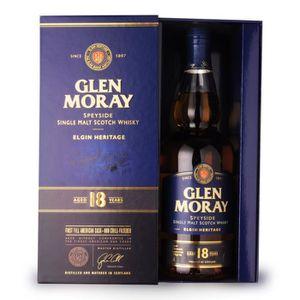 WHISKY BOURBON SCOTCH Glen Moray 18 ans - Coffret - 70cl - Single Malt S