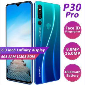 SMARTPHONE Version mondiale P30 Pro téléphone Mobile 6.3 ''pl