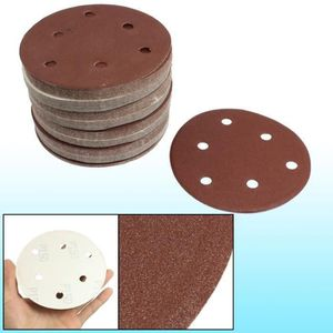 Sourcing map Lot de 25 disques abrasifs abrasifs en oxyde daluminium 12,7 cm Grain 800