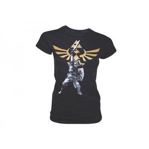 T-SHIRT T-Shirt Zelda Black Logo Femme Taille L